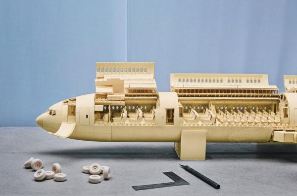 最牛飞机模型 狂人5年制作纸质波音777