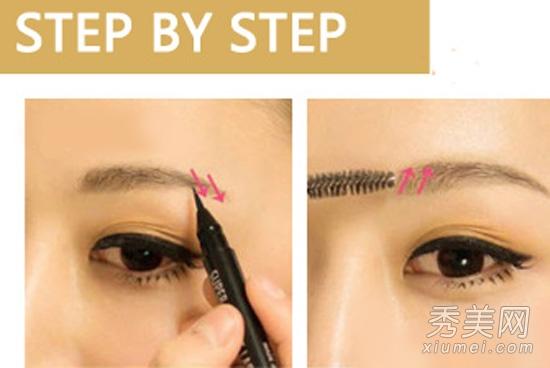 化妆教程:手把手教你修眉毛+画眉毛技巧