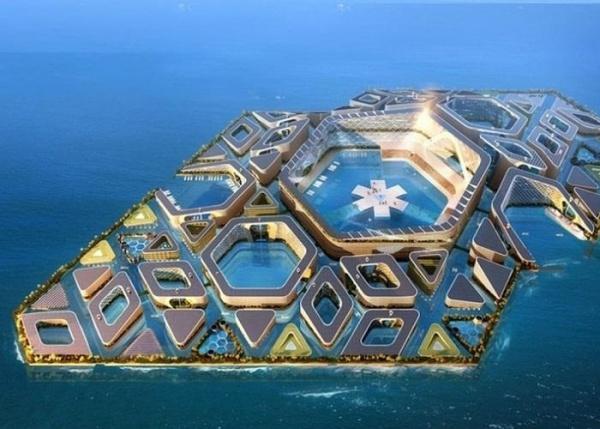 中国公司提出海上浮城的未来设计