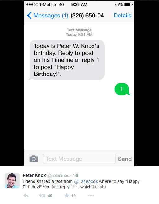 在Facebook回复1就自动发送生日祝福了