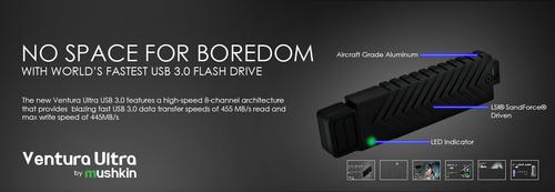 世界最快USB 3.0 U盘上市 445MB/s写入