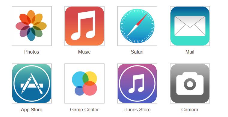 这会是苹果总设计师艾维选择的图标外观吗?