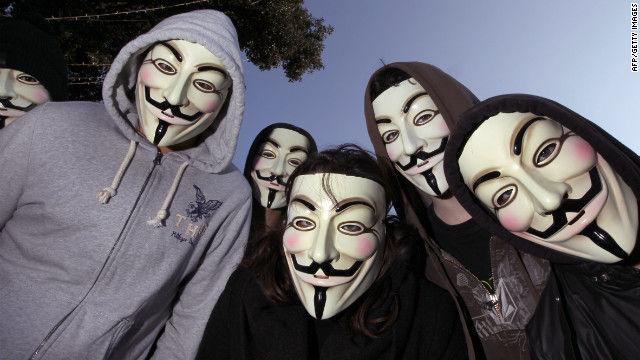 黑客组织 anonymous 不久前在互联网上公布了超过一