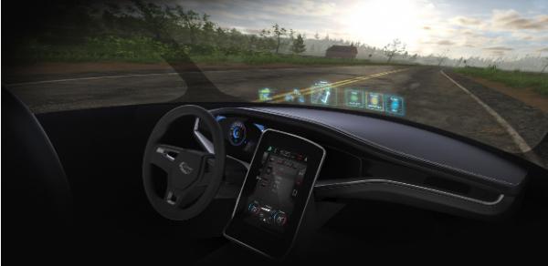 汽车挡风玻璃竟然能配战斗机显示技术?